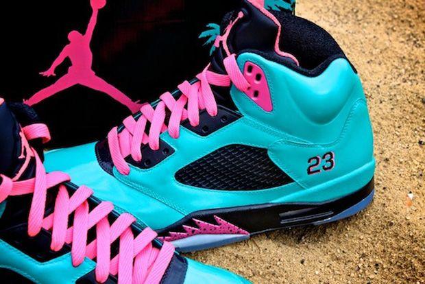 """Air Jordan 5 """"South Beach"""" Custom"""