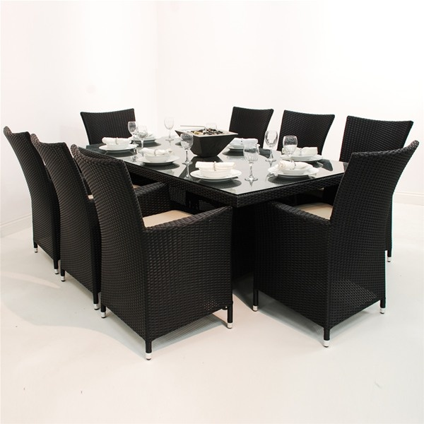 Maze Rattan LA 8 Seat Rectangular Garden Furniture Set. Best 25  Rattan furniture set ideas on Pinterest   Rattan outdoor