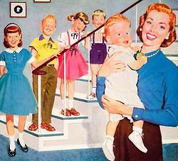 The Baby Boom Years ~ Detail from 1957 Jumping Jack Shoes ad.