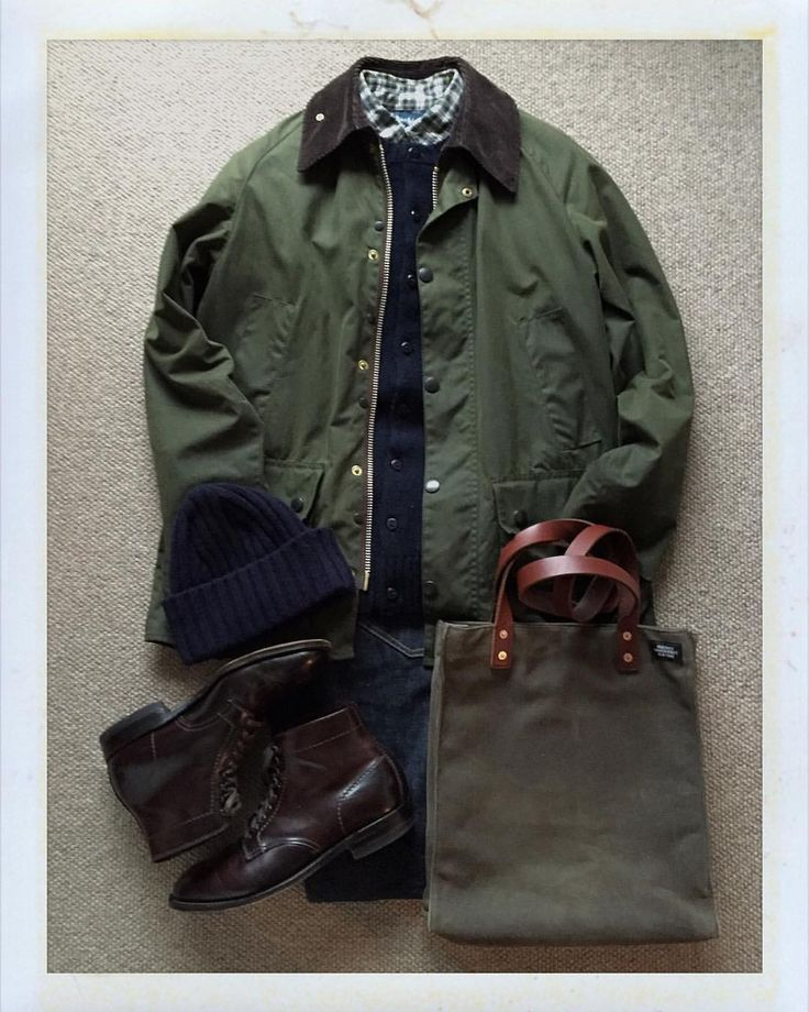 Today's Outfit. #Barbour #Bedale #PeterBlance Shetland Wool Cardigan #RalphLauren Check BD-Shirt #Inverallan Shetland Wool Knit Cap 80's #Levis #505 #JackSpade Waxwear Tote Bag #ALDEN no4561 Plain Toe...