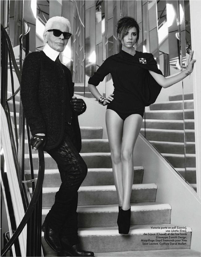#VictoriaBeckham/ Karl #Lagerfeld in the house of #Chanel