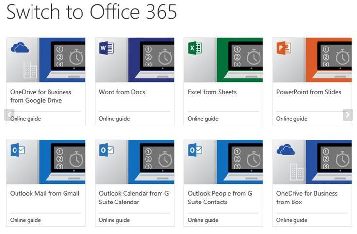 Κυκλοφόρησαν οδηγοί για την μετάβαση από Google σε Office - https://wp.me/p3DBOw-F5G - Η Microsoft συνεχίζει την μάχη εναντίον της Google στο χώρο της cloud productivity suite business, και σήμερα η εταιρεία λανσάρισε μια σειρά εγχειριδίων που υποτίθεται ότι θα κάνουν την μετάβαση στο Office 365 ομαλότερη.