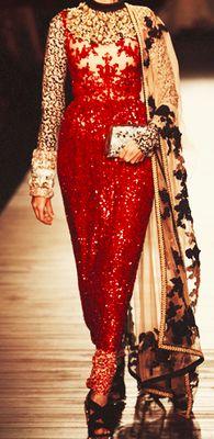 Gushing over this gorgeously embroidered Sabyasachi sari-like dress.