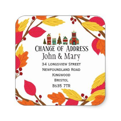 Change of Address sticker - black gifts unique cool diy customize personalize