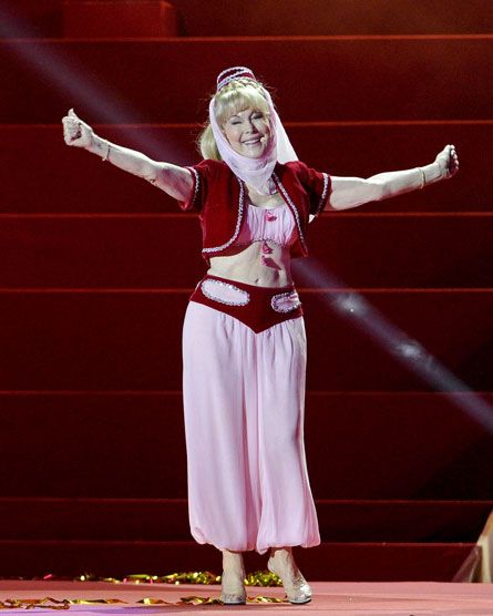 Barbara Eden, 78, performed as Jeannie at the Life Ball in Vienna.  Comments?