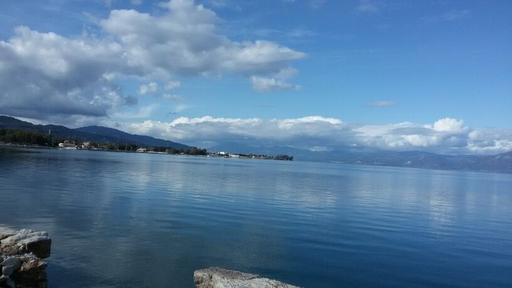 Egio, Greece winter sea