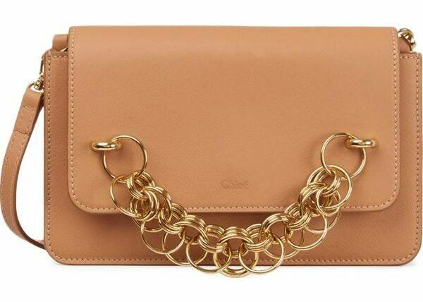 5eeefda5 $1150 CHLOE Drew Bijou Clutch Crossbody Bag Blushy Pink Gold ...