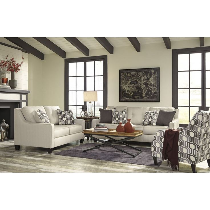 The Ashley Furniture Guillerno Livingroom Set In Alabaster At Local Outlet Would Be A Great Item To Purchase Austin Texas