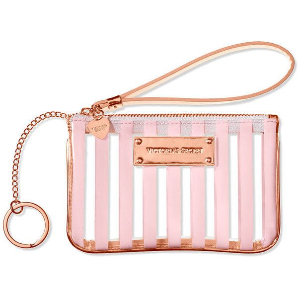 Victoria's Secret Mini Bag ($8.99) ❤ liked on Polyvore featuring bags, handbags, pink, victoria secret handbags, striped handbag, victoria secret bag, mini purse and zipper bag
