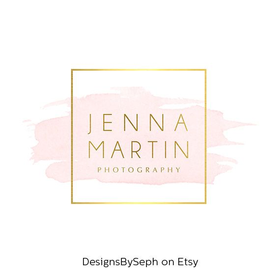 Pre-made Logo Design & Photo Watermark by DesignsBySeph on Etsy