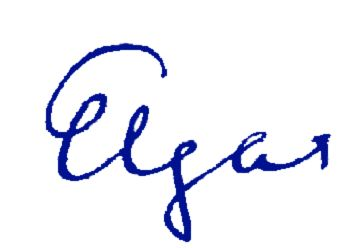 Elgar;s signature