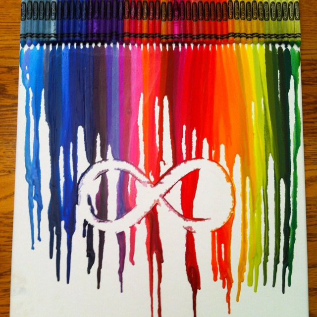 Infinity symbol the o 39 jays love is and love the for How to make a melted crayon art canvas