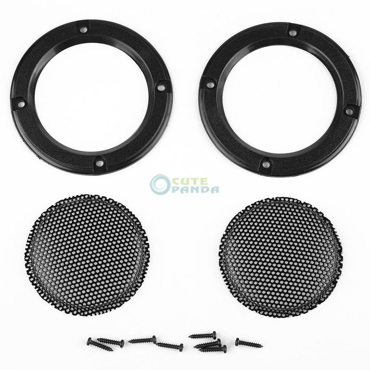 """2 pcs 2 """" 2 inch Subwoofer Speaker Covers Mesh Grilles Circle Speaker Protective Grille Decorative With DIY for Car sound Box"""