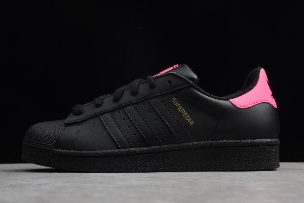 Women S Adidas Superstar Black Pink Metallic Gold Af5666 Scarpe