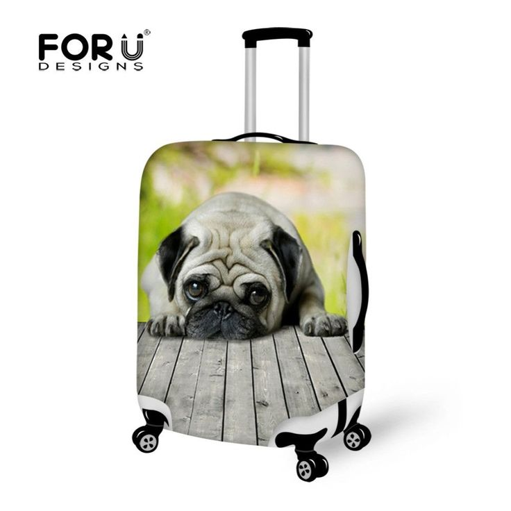 FORUDESIGNS Animal Pug Dog Protective Luggage Cover for 18-30'' Trolley Travel Suitcase. Item Type: Travel AccessoriesItem Height: 72cmModel Number: S/M/LItem Length: 50cmBrand Name: FORUDESIGNSMain Material: PolyesterItem Weight: 200gTravel Accessories: Packing OrganizersMaterial Composition: cottonPattern Type: Animal PrintsItem Width: 20cmPlace of original: Chinasuitcase size: 18 20 22 24 26 28 30 inchItem name: waterproof luggage coverstyle: anti-dustClosure Type: zipperFORUDESIGNS…