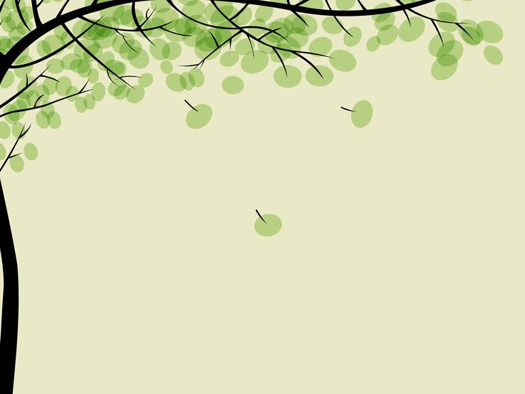Drawing pithy trees left side Background PowerPoint