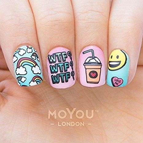 Moyou Tumblr Girl Nail Stamping Plate Design