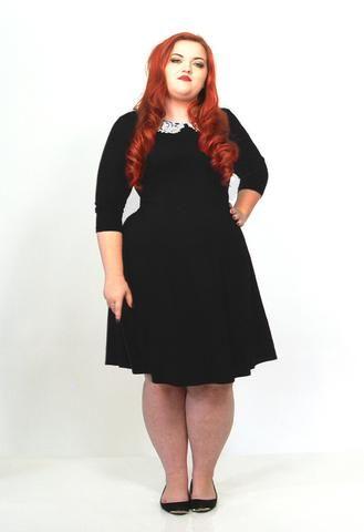 Crochet Collar Fit And Flare Dress - scarlettandjo  - 1