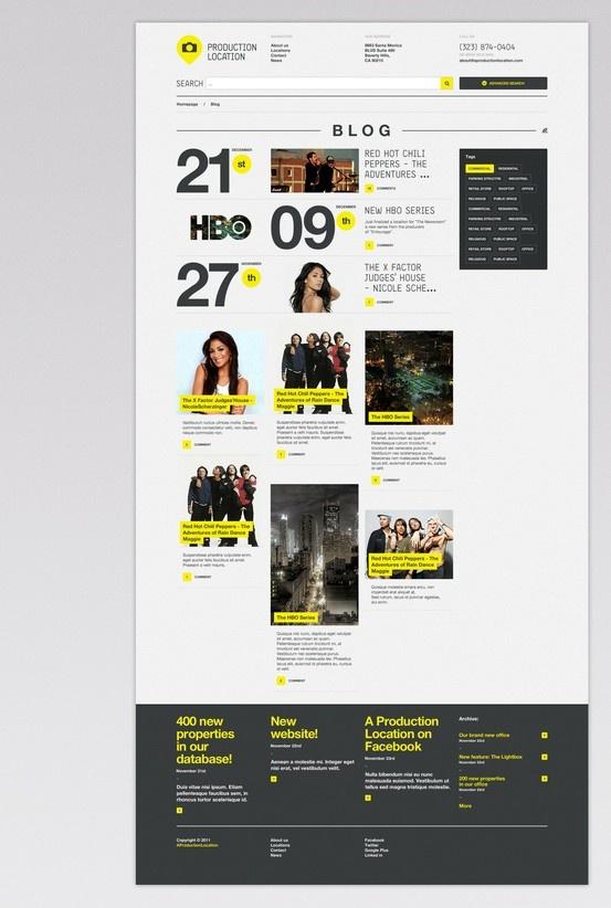 #Stylish yellow #portfolio #webdesign  83oranges.com http://toopixel.ch