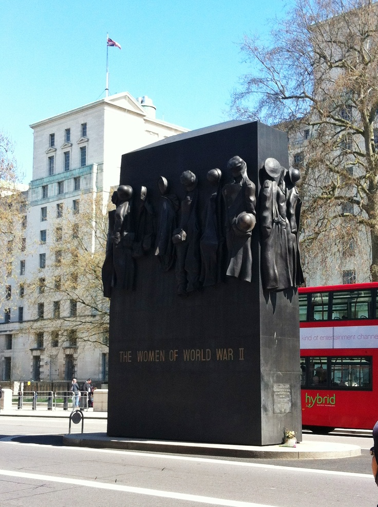 The Women of World War II monument, London, England.