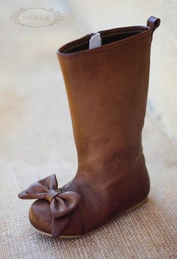 One Good Thread - Maci Brown Bow Boots by Joyfolie, $58.50 (http://www.onegoodthread.com/maci-brown-bow-boots-by-joyfolie/)