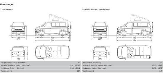 Image result for vw transporter commercial dimensions