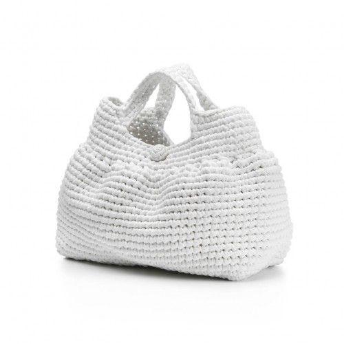 katrin arens - chiarabella:  hand-crochet cotton jersey bag