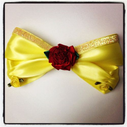 Beauty and the Beast Belle Inspired Disney Hair bow