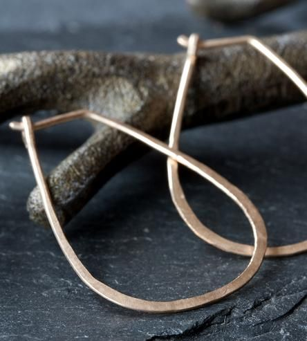 Horseshoe Gold Hoop Earrings