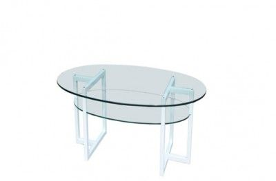 Brutus sofabord white glass round table shelf swedish design englesson www.helsetmobler.no