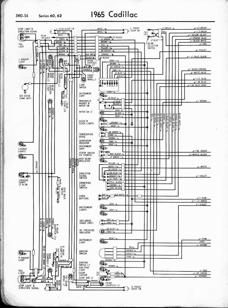 1964 Cadillac Shop Wiring Diagram
