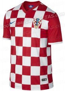 A sempre polêmica camisa da Croácia - http://www.colecaodecamisas.com/camisa-da-croacia-copa-2014/ #colecaodecamisas #Copadomundo2014, #Nike