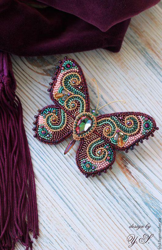 """Броши ручной работы. Ярмарка Мастеров - ручная работа. Купить брошь """"Бабочка"""". Handmade. Брошь бабочка, брошь бабочка заказать"""
