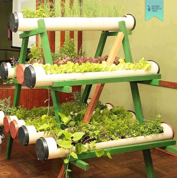 Pvc Garden Space Saving Set Up A Group Of Two Gets Each Pipe Lettuce Peas All Easily Grow Set Up Under Lights Or In Your Green House