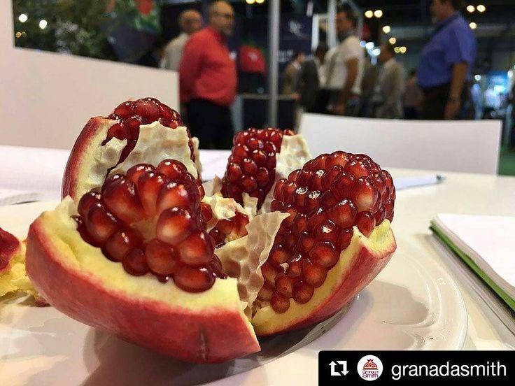 Me encanta ese color rojo!  #Repost @granadasmith  Pásate a conocernos en el stand 4I03A y a nuestras #granadasmith de #grancalibre . #fruitatracttion2016 #IFEMA #Madrid #farming #pomegranate #agricultura #agricultores #agriculture