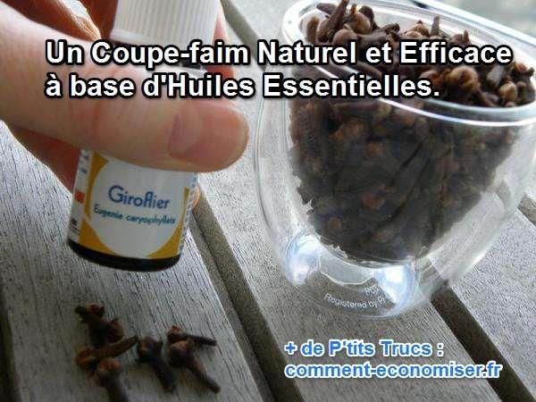Les huiles essentielles ont de nombreuses vertus quand on sait bien les employer. Ainsi, certaines ont la capacité d'aider à réguler la sensation de faim.  Découvrez l'astuce ici : http://www.comment-economiser.fr/coupe-faim-naturel-avec-huiles-essentielles.html?utm_content=buffera3baa&utm_medium=social&utm_source=pinterest.com&utm_campaign=buffer