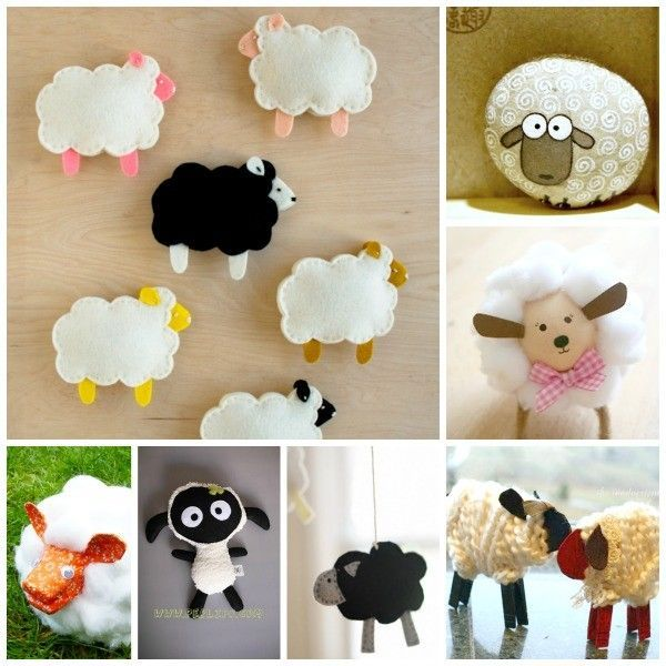 30 Sheep & Lamb Crafts for Spring & Easter #Easter #spring #lamb #sheep #crafts