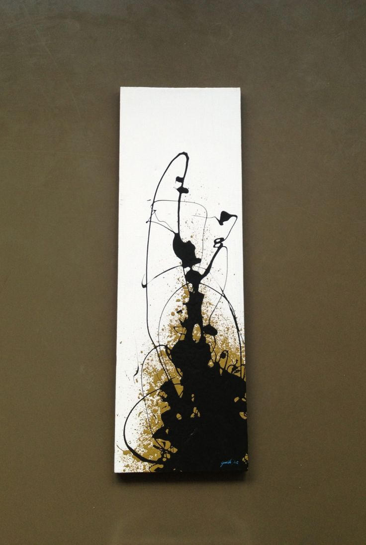 Original Contemporary Abstract Art Canvas Painting 10X30. $270.00, via Etsy.