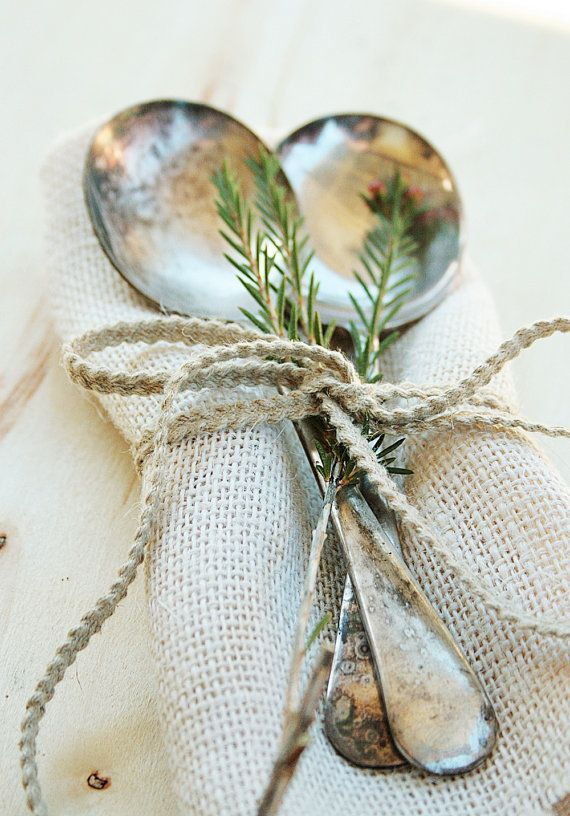 Like the burlap, twine and thyme. : )
