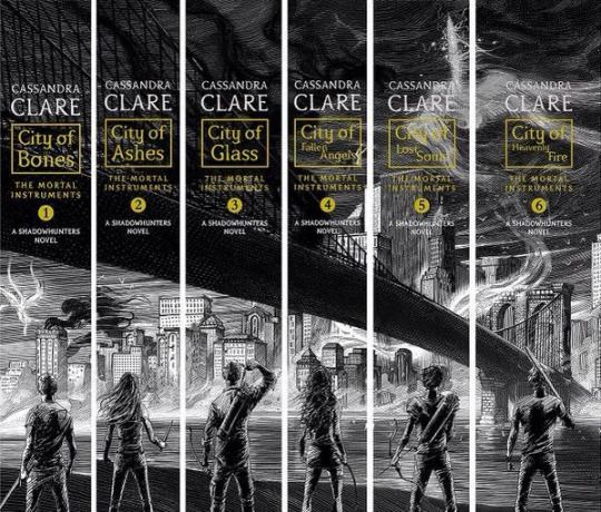 How your collection will look if you buy the new books ... the mortal instruments, isabelle lightwood, simon lewis, clarissa 'clary' fray, jace herondale, alexander 'alec' lightwood, jonathan morgenstern