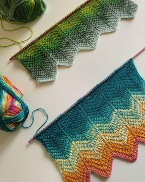 Tunus işi şal yapılışı #crochet #örgü #knit #knitting