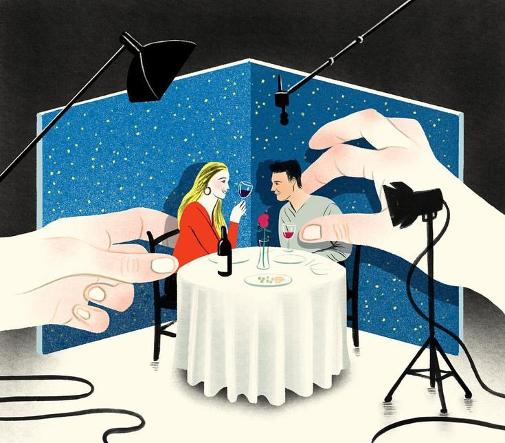 An illustration for @hollywoodreporter about dating in Los Angeles post Weinstein with the help of a matchmaking service. Art Direction by…