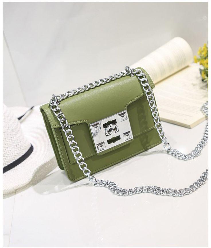 Korean version PUfashion bag (Powder with red)NHTC0571