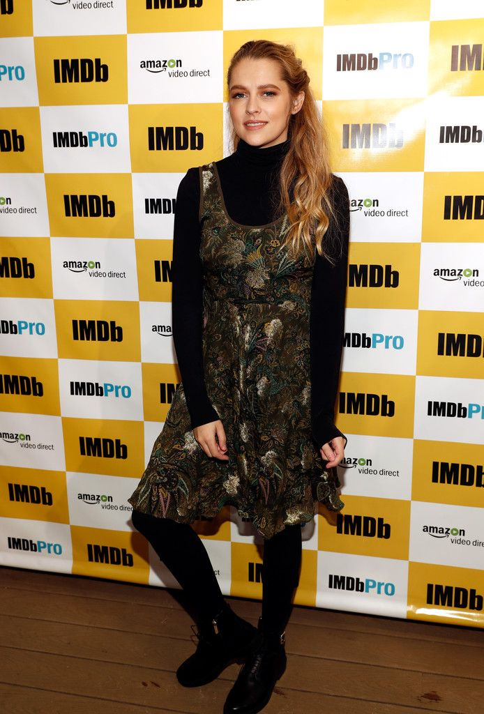 "Actress Teresa Palmer in Etro of ""Berlin Syndrome"" attends The IMDb Studio featuring the Filmmaker Discovery Lounge, presented by Amazon Video Direct: Day One during The 2017 Sundance Film Festival on January 20, 2017"