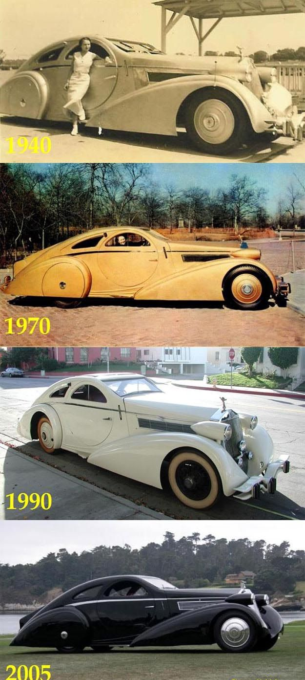 Just a Car Guy: Before and after photos of the incredibly unusual 1925 Jonckheere Rolls-Royce Phantom Aerodynamic Coupe