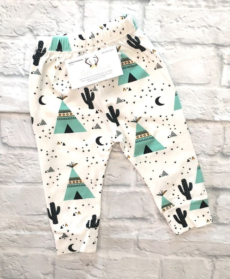 Baby Boy Clothes, Baby Boy Harem Pants, Baby Boy Cactus- Tee Pee Harem Pants, Baby Boy Baby Shower Gift, Baby Boy Cactus Harem Pants, Baby Boy Pants, Harem Pants - BellaPiccoli