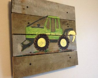 John Deere Themed Bedrooms | ... logging,logger,Barn, Decor,Boys Room,John Deere,Birthday,cool wall art