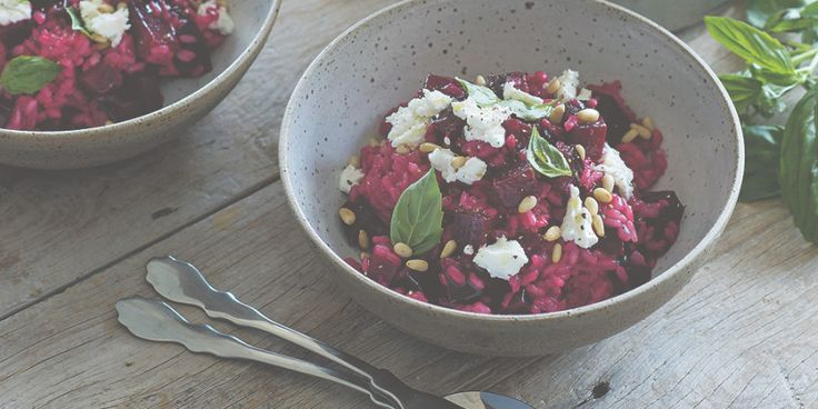 I Quit Sugar: Beetroot + Goats Cheese Risotto by Callum Hann