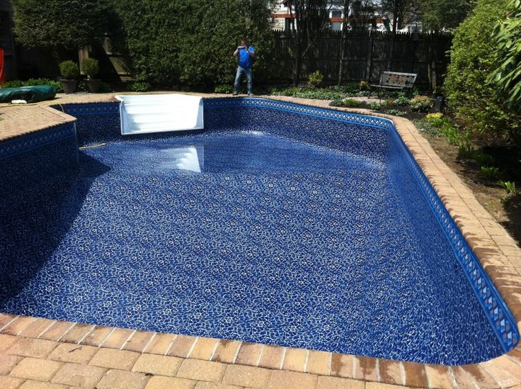 Extraordinary swimming pool liners created in artistic for Pool liners