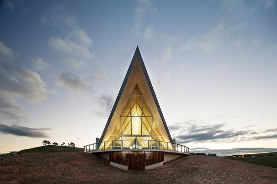 Sited in Canberra and designed by Tonkin Zulaika Greer, the Margaret Whitlam Pavilion at the National Arboretum, Canberra, appears as a distinctive curve..